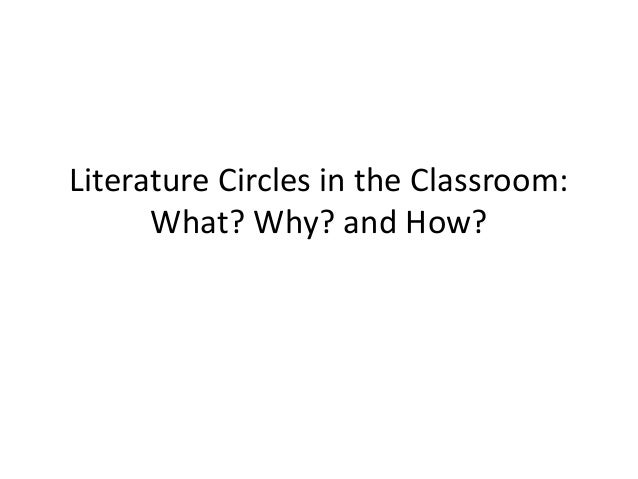 Literature Circles in the Classroom: What? Why? and How?