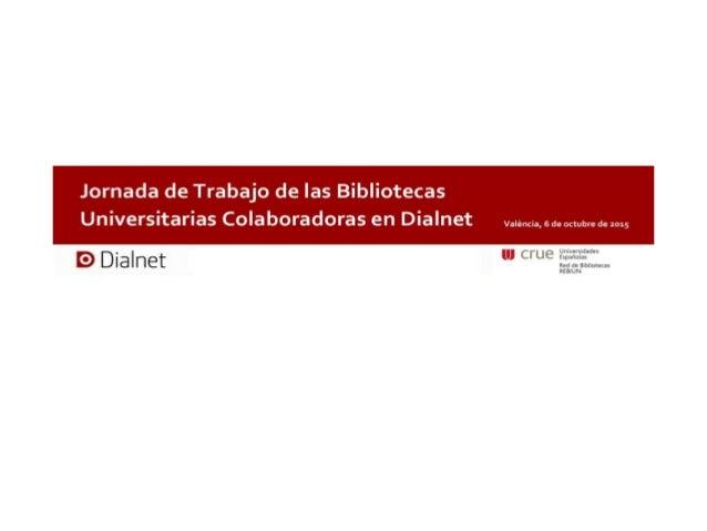 • Alto grado de utilización en la Universitat de València • Datos de uso en la institución pero sin términos de comparación