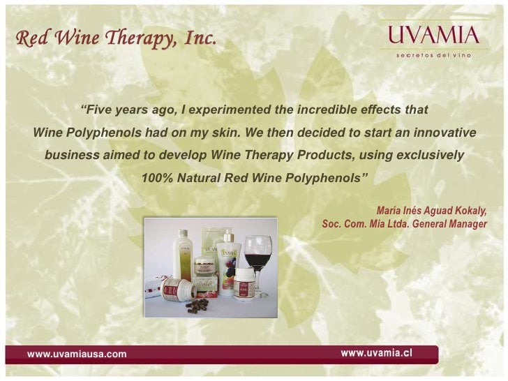 "Red Wine Therapy, Inc.<br />""Five years ago, I experimented the incredible effects that <br />Wine Polyphenols had on my s..."