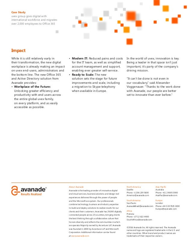 About Avanade Avanade is the leading provider of innovative digital and cloud services, business solutions and design-led ...