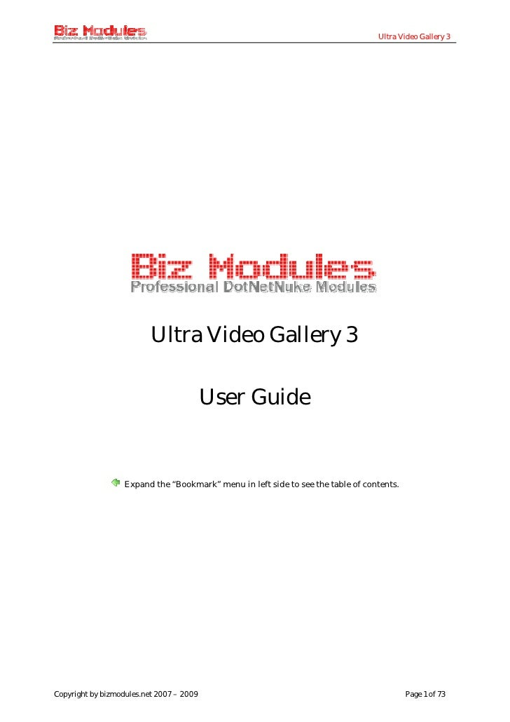 Ultra Video Gallery 3                               Ultra Video Gallery 3                                            User ...