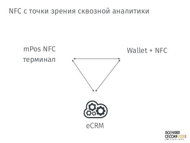1) iBeacon PaaS облака c NFC кошельком 2) eCMS с mPOS; 3) mPOS c NFC. Тенденции в сквозной аналитике