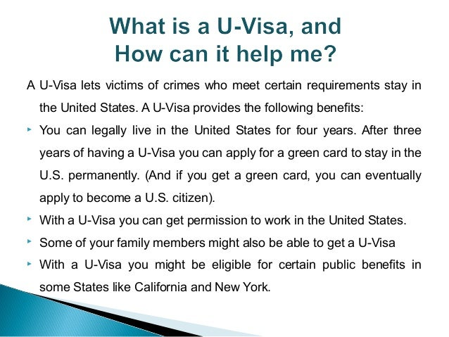 U VISA ISSUES (Victims of Criminal Activity)