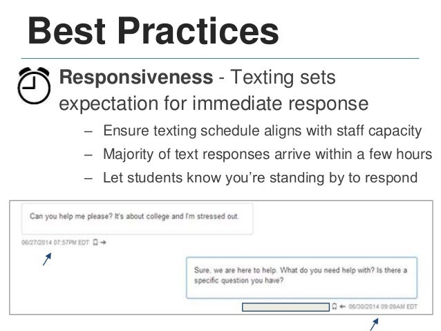 Best Practices Clarity - Conveying information in 160 characters requires thoughtful content & phrasing – Pilot texts with...
