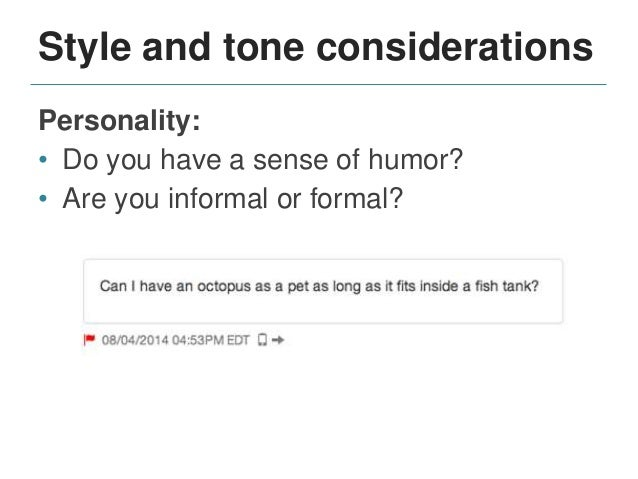 Style and tone considerations Counseling approach: • Proactive or reactive? • How would you respond to this exchange? CFWV...