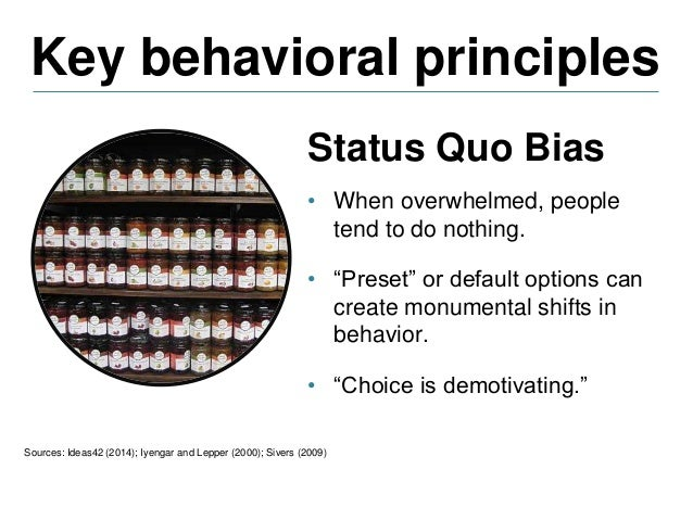 Key behavioral principles Sources: Ideas42 (2014); Castleman (2013) Identity and Social Norms • Individuals are highly inf...
