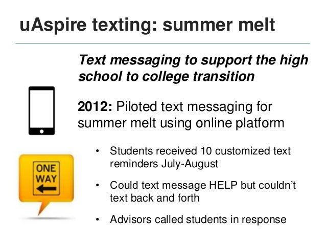 college students and text messaging All cell-phone numbers provided to the university will be subscribed to the  uc  public safety will send a text message to all faculty, staff and students who have.