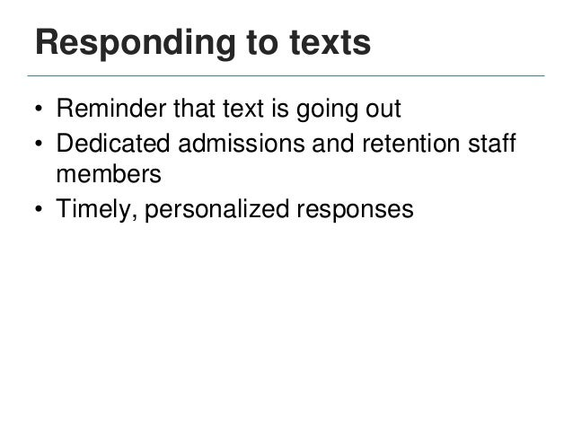 Next steps • Expanding program • Data analysis • Utilizing text messaging in other areas