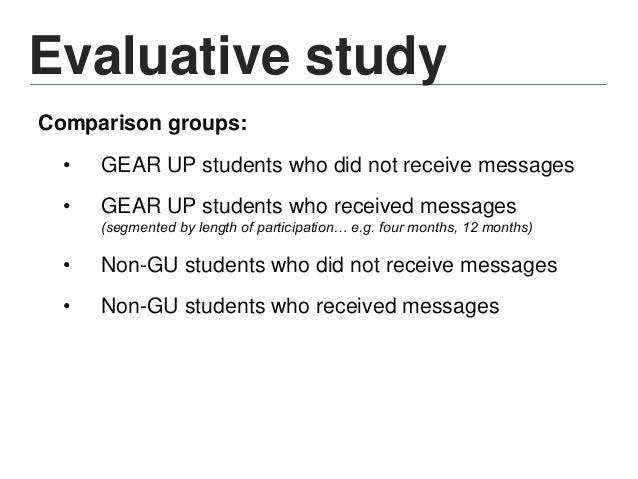 Evaluative study Variables: • Demographic (gender, race/ethnicity, Pell eligibility, zip code, high school) • Academic (AC...