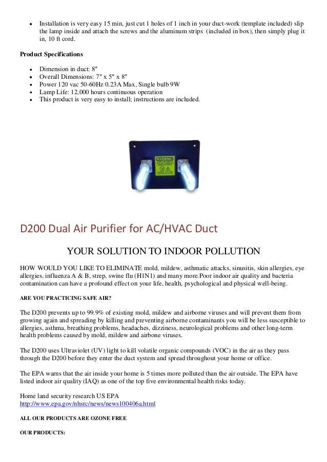 Uv Light Air Purifier
