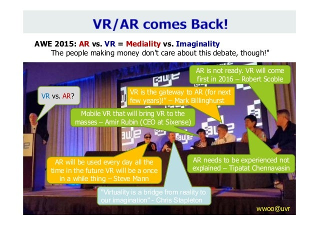 """""""Virtuality is a bridge from reality to our imagination"""" - Chris Stapleton VR vs. AR? Mobile VR that will bring VR to the ..."""