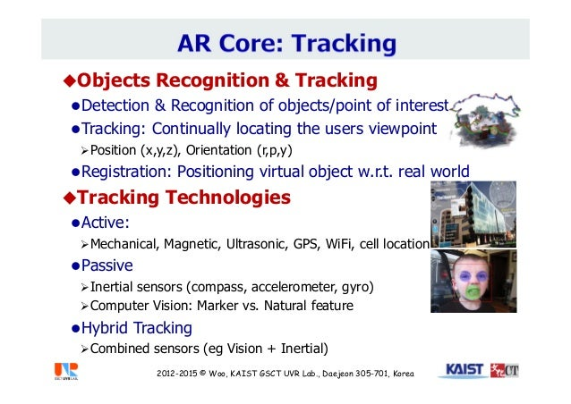 Objects Recognition & Tracking Detection & Recognition of objects/point of interest Tracking: Continually locating the ...