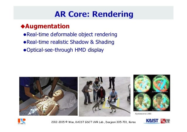 Augmentation Real-time deformable object rendering Real-time realistic Shadow & Shading Optical-see-through HMD displa...