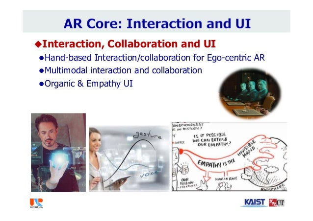 Interaction, Collaboration and UI Hand-based Interaction/collaboration for Ego-centric AR Multimodal interaction and co...
