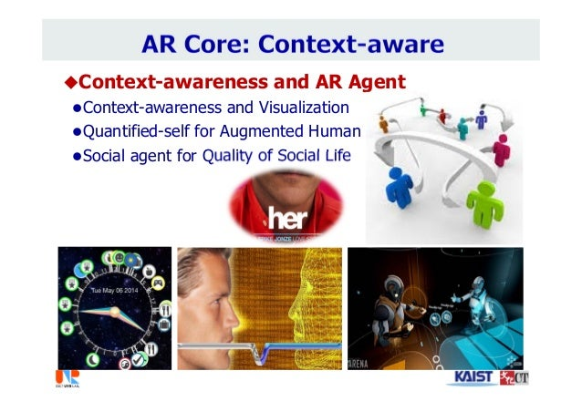 Context-awareness and AR Agent Context-awareness and Visualization Quantified-self for Augmented Human Social agent fo...