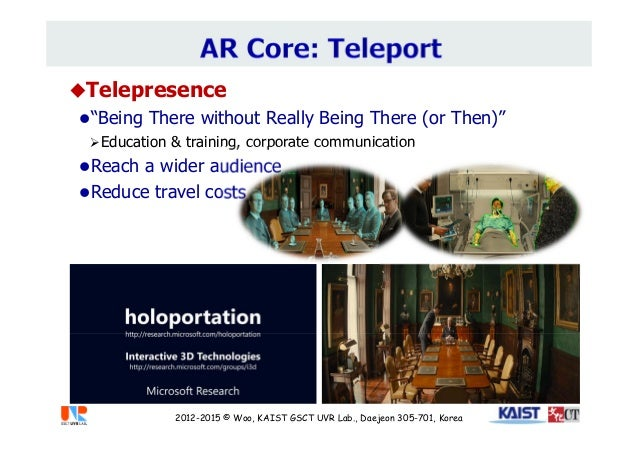 """Telepresence """"Being There without Really Being There (or Then)"""" Education & training, corporate communication Reach a ..."""