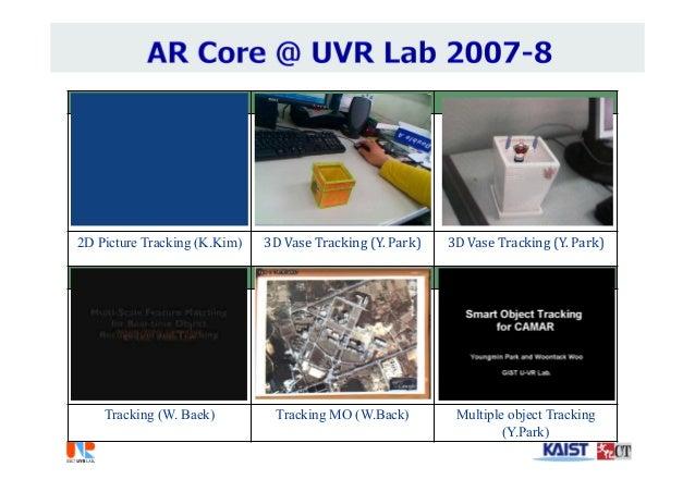 2D Picture Tracking (K.Kim) 3DVaseTracking(Y.Park) 3DVaseTracking(Y.Park) Tracking (W. Baek) Tracking MO (W.Back) ...