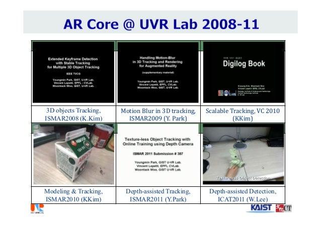 ISMAR2008 ISMAR 2009 VC2010 3D objects Tracking, ISMAR2008 (K.Kim) MotionBlurin3Dtracking, ISMAR2009(Y.Park) Scalab...