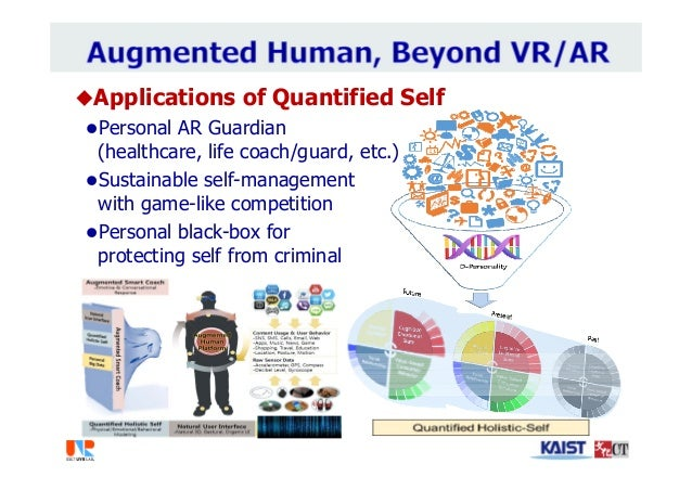 Applications of Quantified Self Personal AR Guardian (healthcare, life coach/guard, etc.) Sustainable self-management w...