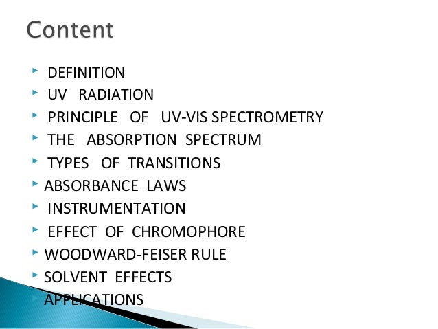 Uv spectroscopy Slide 2