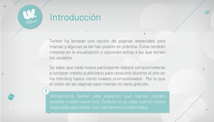 Páginas de Twitter para Marcas Slide 2