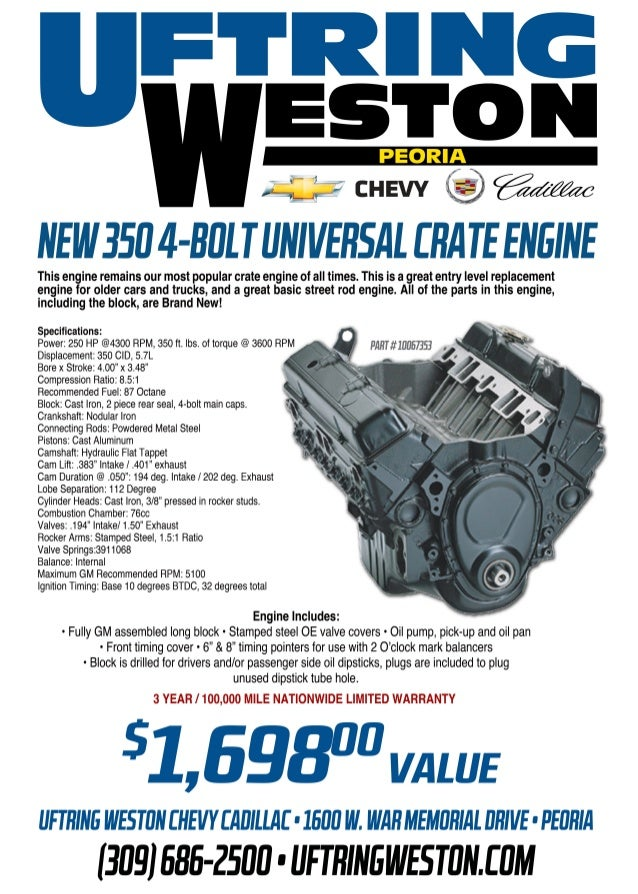 Uftring Weston - GM Performance Parts - Peoria, Illinois