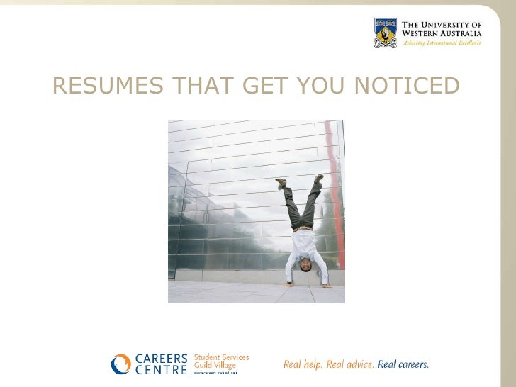 uwa careers resumes and interviews