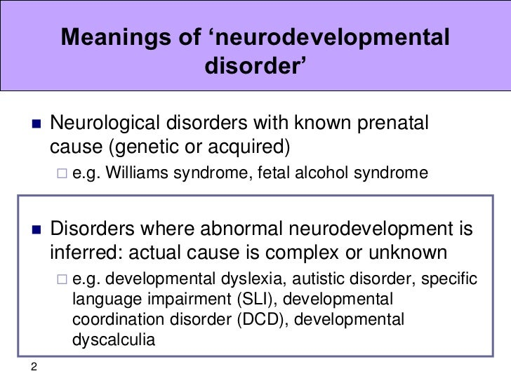Neurodevelopmental disorders: are our current diagnostic labels fit f…