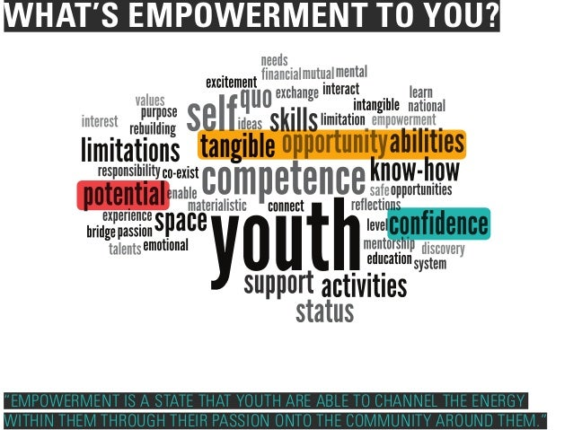 What is Youth Empowerment to You.