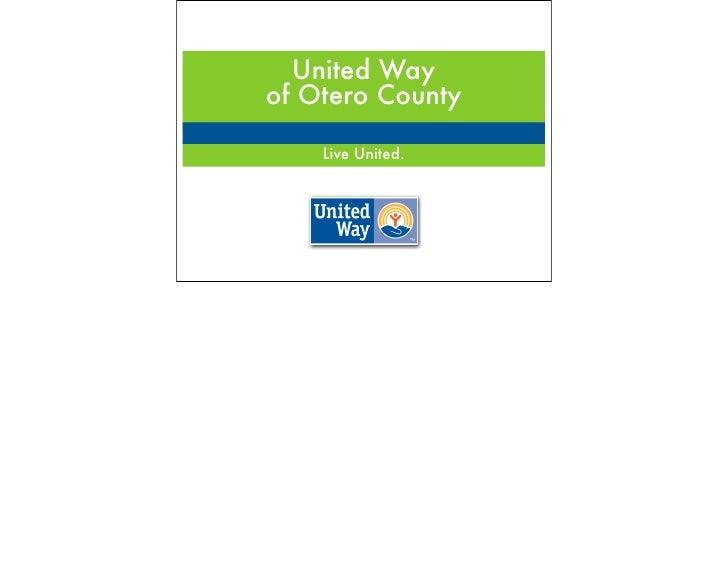United Way of Otero County      Live United.