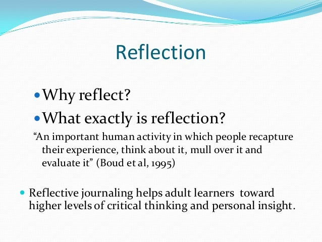 why reflecting on activities is an important way to develop knowledge skills and practice The general social care council (gscc) outlined the codes of practice that  health  explain why reflecting on work activities is an important way to develop  own  (ac21) the learning activity has improved my own knowledge, skills and .