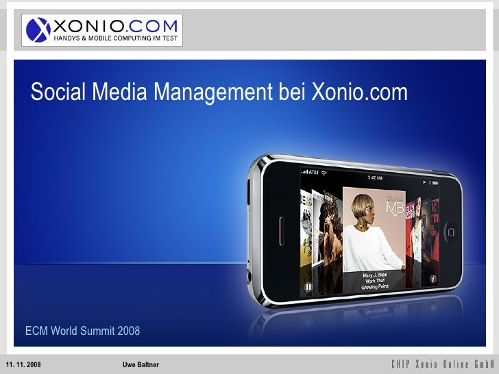 Social Media Management bei Xonio.com