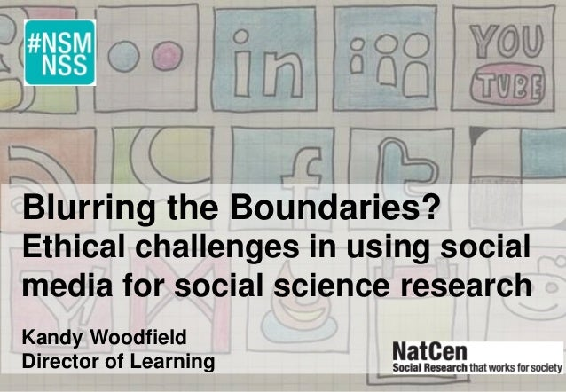 Blurring the Boundaries? Ethical challenges in using social media for social science research Kandy Woodfield Director of ...
