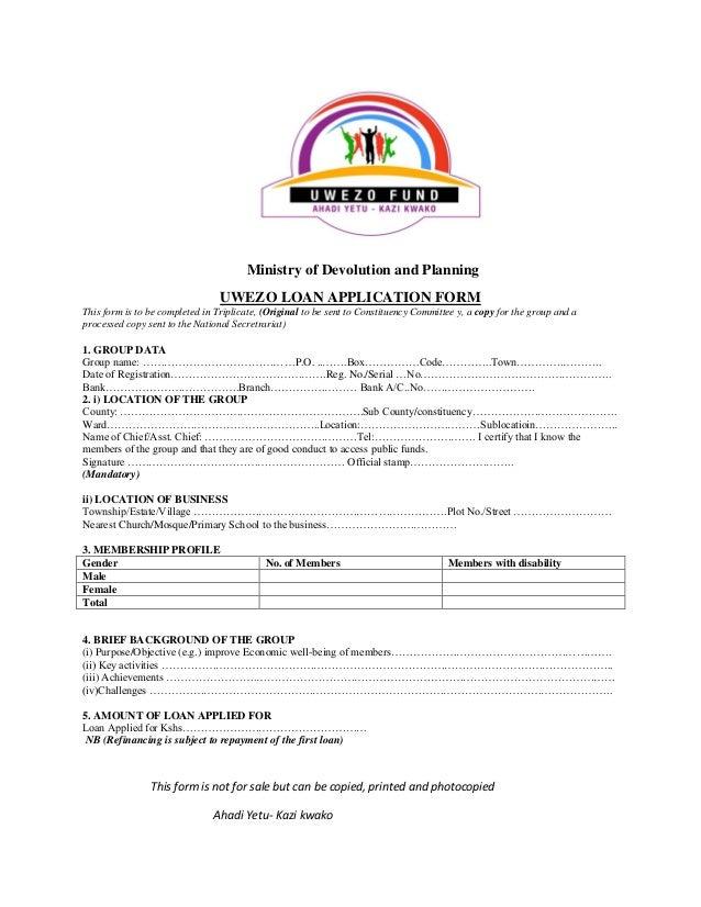 uwezo fund business plan form