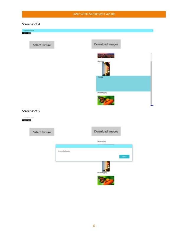 UWP With Microsoft Azure