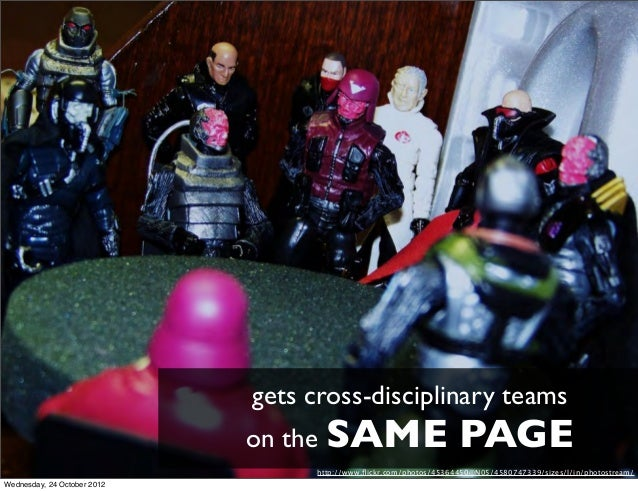 gets cross-disciplinary teams                             on the SAME                           PAGE                      ...