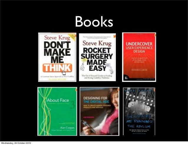 BooksWednesday, 24 October 2012