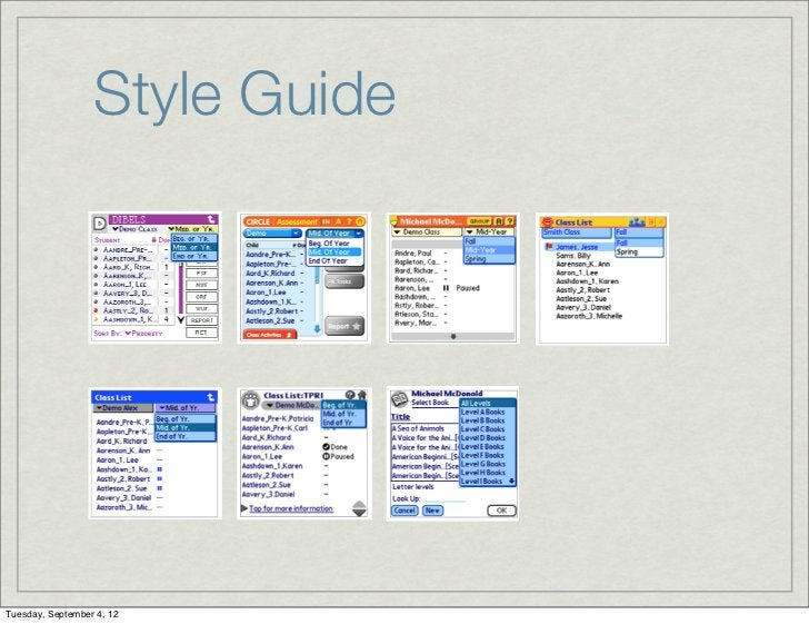 Style GuideTuesday, September 4, 12