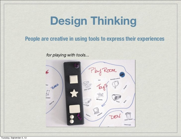 Design Thinking                      People are creative in using tools to express their experiences                      ...