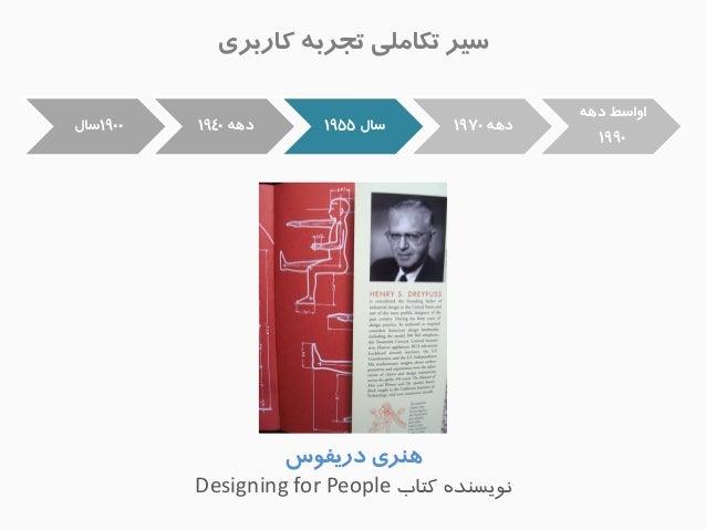 عیز تکاهلی تجزب کاربزی  زٌّی دریف طَ  یًَغ ذٌ کتاب Designing for People  1900 عال  د 1940  عال 1955  د 1970  ا اٍعط د 1990