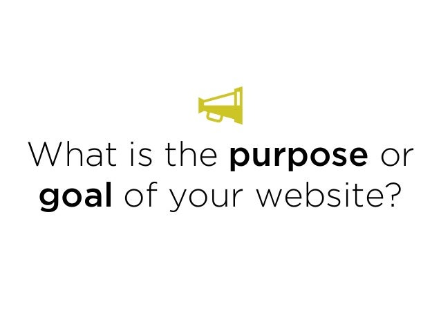 What is the purpose or goal of your website?