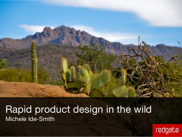 Rapid product design in the wildMichele Ide-Smith