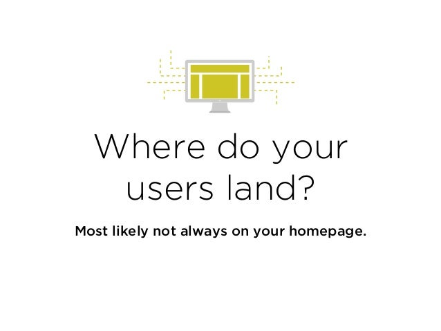 Where do your users land? Most likely not always on your homepage.