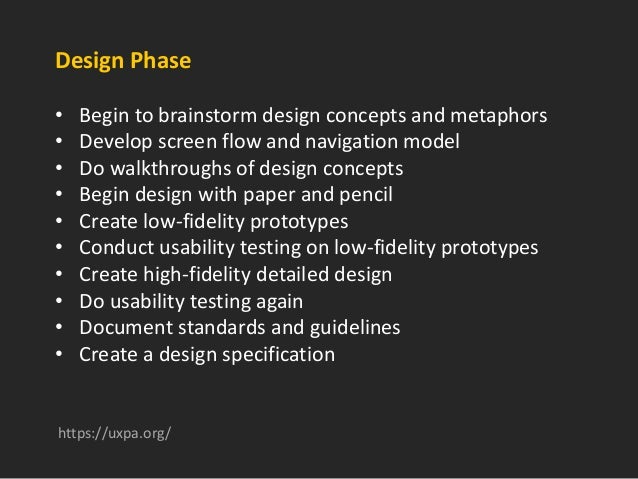 Implementation Phase • Do ongoing heuristic evaluations • Work closely with delivery team as design is implemented • Condu...