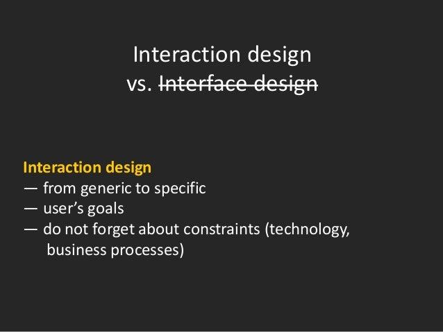 1. Interface design: done