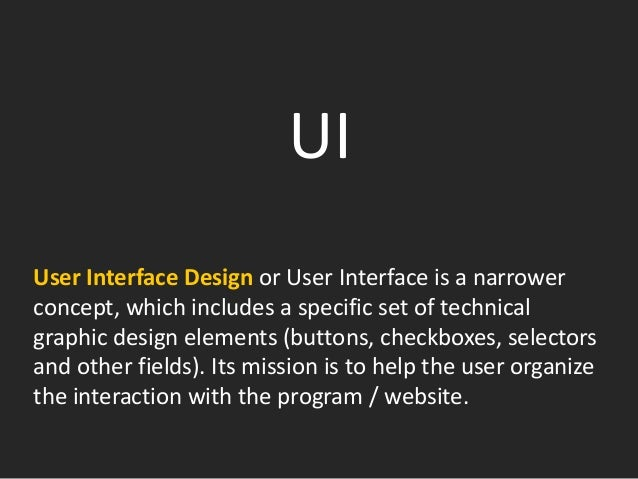 GUI Graphic user interface, GUI — is a type of user interface, where interface elements (menus, buttons, icons, lists etc....
