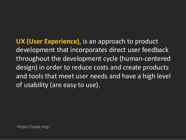 The business benefits of adding UX to a product development process include: • Increased productivity • Increased sales an...