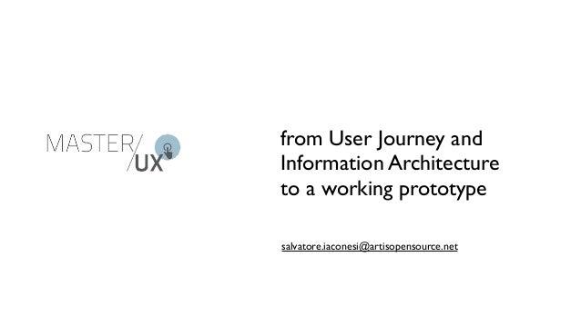 from User Journey andInformation Architectureto a working prototypesalvatore.iaconesi@artisopensource.net