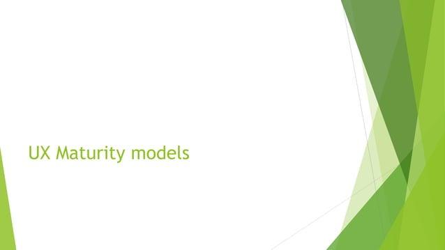 UX Maturity models