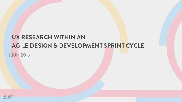 UX RESEARCH WITHIN AN AGILE DESIGN & DEVELOPMENT SPRINT CYCLE 1 JUN 2016